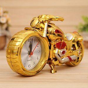 Souvent Vintage Moto Alarm Clock Réveil Moto Horloge de table Quartz Horloge Horloge gold+rose