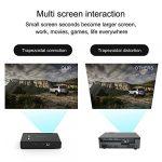 Futurepast Projecteur Home Cinéma WiFi Mini Projecteur Projecteur Portable avec Projecteur 3800 Lumens, Projecteur Cinéma Maison Multimédia 30 000 Heures, Décodage Vidéo 4K,HD 1080P