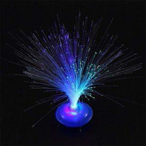ICOCO Chrismas Party Bar Decor Belle Romantique LED Lampe Changement De Couleur LED Fibre Optique Veilleuse Lampe Petite Veilleuse aléatoire