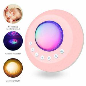 Sleep White Noise Machine, bébé projecteur étoilé et veilleuse pour dormir, 20 thérapies de sons naturels apaisantes de haute fidélité pour adultes, enfants, bureau, minuterie, alimenté par USB