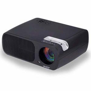 Projecteur, 1080P, 2600 ANSI Lux Projecteur vidéo portable avec 20 000 LED Hrs vie de la lampe, Compatible avec TV Stick, HDMI, VGA, TV, VA et USB (Color : Black)