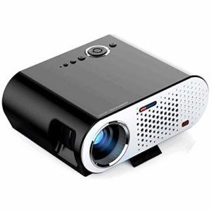 Projecteur, 1080P et 280 « » affichage pris en charge, 3200 Lux Portable Projecteur vidéo Maison et extérieur Projecteur Compatible