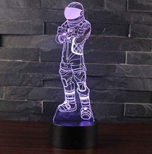 3D Lampe Illusion Optique LED Veilleuse, CKW 7 Couleurs Tactile Lampe de Chevet Chambre Table Art Déco Enfant Lumière de Nuit avec Câble USB Nouveauté De Noël Cadeau d'anniversaire (Dark Voyager)