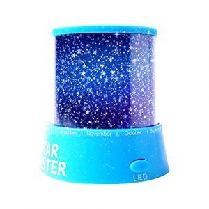 Aeeque Romantique [Bleu] Lampe LED Master ciel étoile Étoilées mini étoiles Projecteur [avec câble USB] Enfants Lampe de Chevet Maison de Chambre Décoration