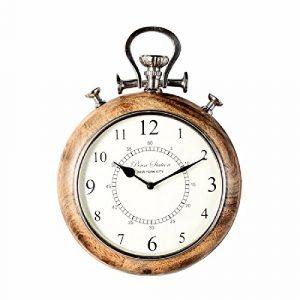 CNBBGJ L'Inde a importé salon décoration murale en bois aluminium, montres, horloges montre de poche