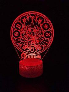 Lampe 3D Saint seiya Sagittaire jolie décoration pour ambiance de pièce base lumineuse multicolore avec télécommande lampe de nuit à LED