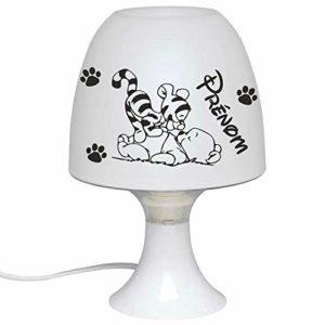 Lampe de Chevet Enfant Veilleuse Personnalisée avec Prénom – Idéal chambre de bébé – Cadeau de naissance – Baptême – Anniversaire – Noël Plaisir d'offrir – Visuel Ourson Tigre