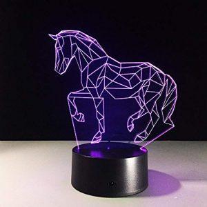 Lampe de table créative de cheval 7 couleurs changeant la lampe de bureau 3d lampe nouveauté Led veilleuses Led lumière DropShip