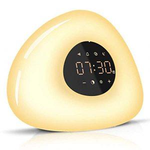 Maison Réveil Maison Lampe De Chevet Réveil Coloré Changement Lever du Soleil Coucher du Soleil Hypnose Lampe LED Nuit Lumière Alarme