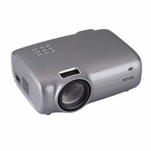Mini projecteur, 2600 Lux Projecteur vidéo portable avec 20 000 heures LED vie de la lampe, 1080P et 36-200 » affichage pris en charge, Compatible avec TV Stick, PS4, HDMI, VGA, TF, AV et USB