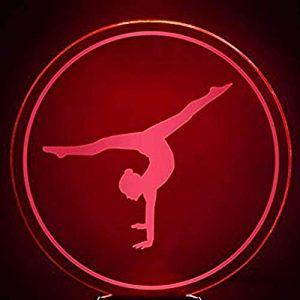 Veilleuse Veilleuse 3D Led Chambre Sommeil Luminaire Décor 7 Couleurs Veilleuses USB Lampe De Table Gymnastique Mouvement Modélisation Gymnaste Fans Cadeaux