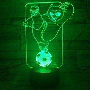 3D Illusion Lampe Led Veilleuse Meilleurs Enfants Kung Fu Panda Football Pour Enfants Chambre Lit Avec Bureau Batterie Lit Déco