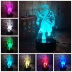 3D Illusion Lampe Led Veilleuse World Of Warcraft Samuro Jeu Amant Table Décor À La Maison Cadeau De Noël Wow Souvenir Enfants Jouet Héros
