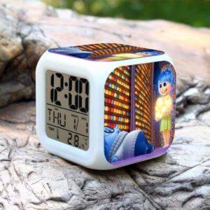 JXAA Dessin animé Enfants réveil 7 Couleur Table à Langer numérique Horloge électronique Affichage de la lumière Horloge Sept Couleurs Flash numérique réveil veilleuse