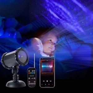 Lumières de fête USB rotation ciel étoilé Projection Night lampe Projection romantique LED Light Gift Party Supplies Veilleuses-projecteurs 0703