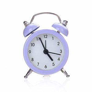 Réveil Petit lit réveil Double Cloche Silencieux Alliage Inoxydable métal réveil Digitale créatif Mignon Mini métal réveil