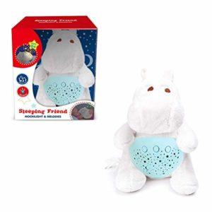 Sykasm Bébé animal en peluche étoile projection tétine lumière douce projecteur bébé sommeil tétine, a