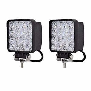 2 X 48W LED projecteur tout-terrain réflecteur lampe phare lampe de travail lampe de travail SUVUTVATV lumière auxiliaire phares tout-terrain 12V feu de recul 24V 2 X 48W carré
