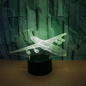3D illusion lampe LED veilleuse Avions Coloré Tactile À Distance Visuel Creative Cadeau Enfants Chambre Nouveauté Appareils