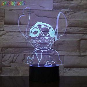 3D Illusion Lampe Led Veilleuse Dessin Animé Teddy Stitch Bébé Décoratif Cadeau Enfant Enfants Chambre Stich Table Point Chien