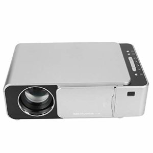 Annadue Projecteur Domestique, vidéoprojecteur 720P, projecteur HDMI USB Domestique T6 LED, vidéoprojecteur LCD monolithique 1920 * 1080, Interaction Multi-écrans. (UE 100-240 V)