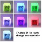 PKLFQQA Réveil Réveil de Voyage avec Port de Charge USB Chevet réveil numérique LED veilleuse colorée éclairage réveil Affichage Multifonction Interrupteur Tactile muet Peut être personnalisé n'impor