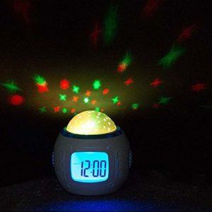 Réveil enfant Wake-up Light LED ciel étoilé calendrier réveil LED Nightlight