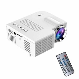 RGLZY Mini-LED Projecteur Portable avec télécommande, projecteur 1080P Multimedia Home Cinéma Théâtre Vidéo Projecteurs