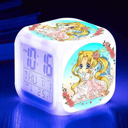 shiyueNB Dessin animé Enfants réveil réveil numérique réveil Jouet LED réveil réveil Table Lumineuse Horloge de Bureau