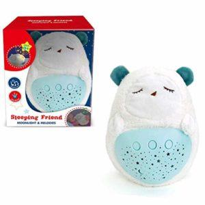 Sykasm Bébé animal en peluche étoile projection tétine lumière douce projecteur bébé sommeil tétine, D