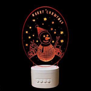 Veilleuse Acrylique Lampe 3D Père Noël Intérieur Bluetooth Haut-Parleur Usb Musique 3D Lumière Couleur Variable Lampara Enfant Cadeau Usb Led Lumière Nuit Lampe