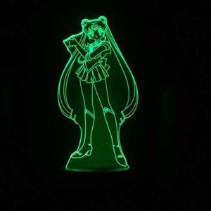 Figure USB 3D LED Veilleuse Décoration Garçons Enfant Enfants Bébé Cadeaux Japonais anime Sailor Moon Lampe De Table De Chevet FFFCJYQ