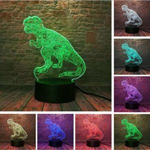 Jurassic World Figurine Dragon Pterosaur Aile de dinosaure 3D Lampe LED 7 couleurs changeantes Veilleuse de bureau Décoration Jouets Cadeaux USB Touch 7 couleurs Style 9