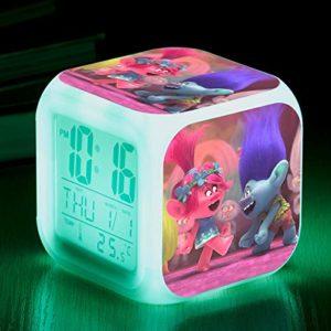 shiyueNB Film réveil Dessin animé Chevet Enfants réveil réveil réveil numérique réveil Lampe réveil Montre Horloge LED reloj réveil
