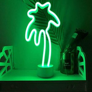 Veilleuse Led Neon Night Light With Base Battery Powered Table Lamp For Kids Room Holiday