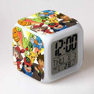 yuandp Horloge pour Enfants réveil pour Enfants réveil numérique réveil Dessin animé réveil Lampe réveil LED reloj désespoir