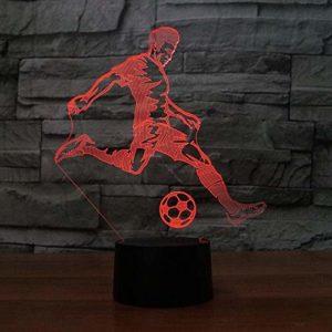 3D Led Veilleuse Joueur De Football 3D Lampe À Led Glow 16 Couleurs Tactile D'Anniversaire Femme Bébés Usb Puissance Tactile Télécommande