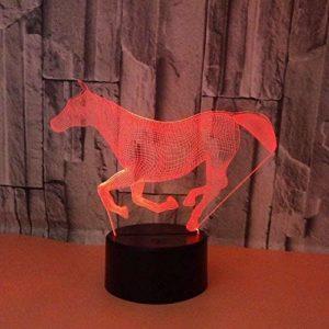 Animal Licorne 3D Veilleuse LED Illusion Optique Lampe 7 Couleurs Changement Tactile Lampe de Bureau pour Chambre Table De Chevet Décoration Enfants Anniversaire Cadeaux De Noël