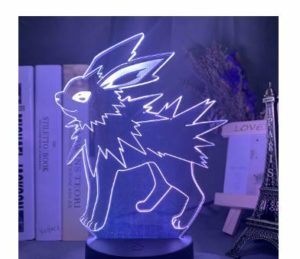Cadeaux pour enfants Pokémon Pikachu 3D Veilleuse Cadeau Anniversaire Créatif Animaux elfe Lampe de Chevet Pokémon, 16, Base Colorée Crack + Télécommande 16 Couleurs