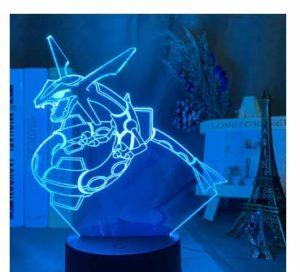 Cadeaux pour enfants Pokémon Pikachu 3D Veilleuse Cadeau Anniversaire Créatif Animaux elfe Lampe de Chevet Pokémon 29, Base Colorée Crack + Télécommande 16 Couleurs