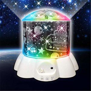 DHTOMC Lumières Projecteur Baby Star Sky Projecteur LED Lampe Starry Lampe de projecteur for Les Enfants Chambre pour Fêtes d'anniversaire (Color : White, Size : One Size)