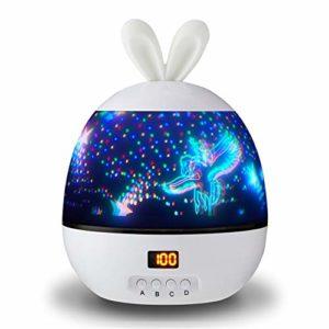 DHTOMC Lumières Projecteur Enfants Night Light Projector – Star Light Projecteur Night Light Les Cadeaux for Les Enfants pour Fêtes d'anniversaire (Color : White, Size : One Size)