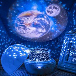 DHTOMC Lumières Projecteur Night Sky Projector Lamp Nuit Projecteur Lampe Ronde de Lampe de projecteur Night Light Cadeau for Les Enfants pour Fêtes d'anniversaire (Color : White, Size : One Size)