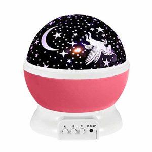 DHTOMC Lumières Projecteur Projecteur Nuit Étoile gyrophare bébé éclairage de Nuit Lampe for bébé Enfants, Halloween, Cadeau de Noël pour Fêtes d'anniversaire (Color : Pink, Size : One Size)