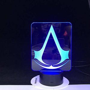 Jeu de super-héros 3D LED cadeau de nuit pour les chambres de décoration de chambre d'enfants changeant de salle d'étude avec lampe de veilleuse