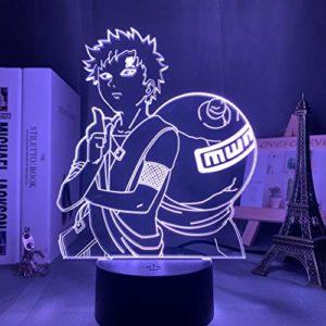 Naruto Veilleuse 3D Naruto Naruto Cadeau d'anniversaire Coloré Touch Light Anime Japonais 24, Base Colorée Crack + Télécommande 16 couleurs
