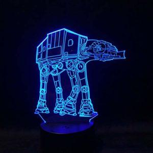 RMRM 7 Couleurs 3D Veilleuse Enfants Sommeil 3D Lumière de Nuit LED Lampe de Bureau Décoration Maison USB Table Lampara