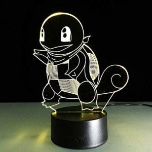 Tortue animale Veilleuses 3D Illusion Veilleuse 7 Couleurs Changement Contrôle Tactile USB Charge Éclairage Maison Chambre Salon Décoration et Nouveauté Cadeaux