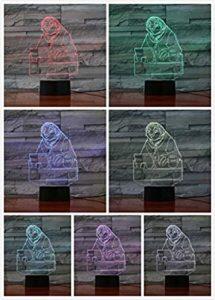 Veilleuse pour enfants Cartoon Animaux USB 3D LED Veilleuse à distance 7 couleurs Décoration d'intérieur Enfants Filles Garçons Cadeau de Noël 1 veilleuse pour les enfants @3
