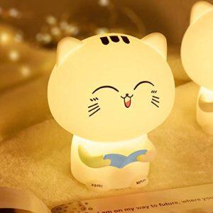 Veilleuse USB Elk LED lampe de bureau petit cerf à la recherche de cerf avec lampe de couchage lampe de bureau de lecture petit cerf (lumière blanche + lumière jaune)